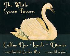White Swan Tavern Coffee Kitchen Bar Lunch 16X20 Vintage Poster Repro FREE SH