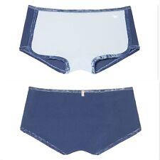 76ea99882ed47 Victoria s Secret Pink Boyshorts VELVET Trim Panty Shortie Blue Size S M L  NEW