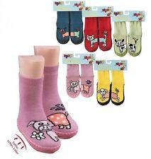 Chausson Haut - Socquettes Drôle Animaux''avec echter Semelle en cuir,