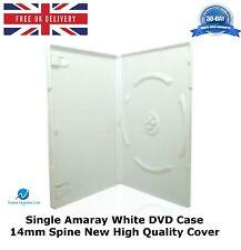 Unique amaray boîtier dvd blanc 14 mm colonne vertébrale nouvelles de rechange de haute qualité housse