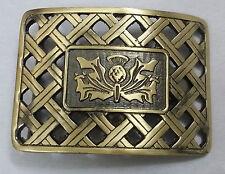 New Thistle Lattice Kilt Belt Buckle Antique Finish/Scottish Kilt Belt Buckles