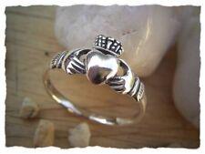 Claddagh-Ring aus 925er Silber - Irischer Verlobungsring - Schmuck Irland