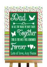 ROSSO VERDE INVERNO NATALE messaggio papà padre sposa personalizzato matrimonio segno