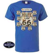 T-Shirt blu reale Vintage HD motivo Biker & oldschool M-XXL Modello Ottenere