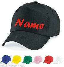 Baseball Cap - Mütze - Wunsch - Name - Initialen - verschiedene Farben - Neu