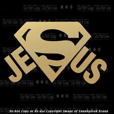 Super Jesus Love Faith Jesus Christian church sticker decal