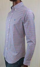 "Ralph Lauren Long Sleeve Dress Shirt ""Rose"" And Blue Plaid~NWT~ SLIM FIT"