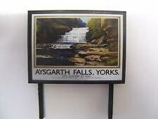 Aysgarth Falls, Yorks. It's Quicker by Rail - Billboard - N & OO Gauge