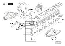 BOSCH Akku-Heckenschere AHS 50-20 LI original Bosch Ersatzteile
