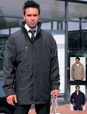 Rimovibile Foderato in Pile Smart esecutivo lungo Cappotto Giacca Beige Nero o Blu