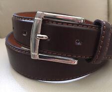 Italy Style Brand Men's Genuine Leather Dark Brown Belt Size   M/ L/ XL NEW