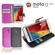 Wallet Flip Leather Stand Case Cover for Motorola Moto G 2 nd Gen 2014 + SG 1032