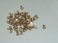 50 Messing Halbrundnieten  Vollnieten Nieten DIN 660 Halbrundkopf 3x4