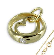 Taufring Herz Anhänger mit Zirkonia 333 Gold Muttertag Valentinstag Liebe