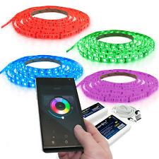 1 bis 15m LED Streifen Band Strip Wifi W-lan set Touch bedienung RGB Farbig 60er