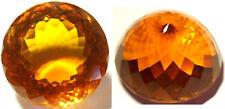 Stunning 260 cts 40.3 mm Round Orange Cultured Quartz