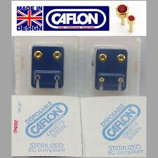 ORECCHINI CAFLON - 24ct placcati in oro borchie BIRTHSTONE-NUOVO di zecca in confezione sterile