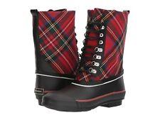 Burberry Rowlette Mid-Calf Check Rain Boots Mult Sz MSRP: $295.00