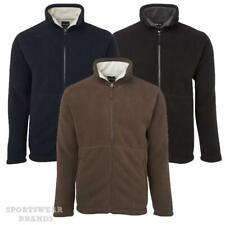 Mens Shepherd Jacket Contrast Fleece Lining Casual Winter Warm Work Adults 3JS