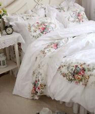 Rural Style Roses Garden Ruffle Lace Nice Cotton Duvet Cover Set/Bedding Set1502