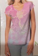 New 2 pc Novelty PJ set (printed V neck Tee & Capri pants) ~ Size : S M L XL