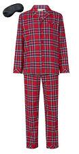 i-Smalls Mens Luxury Check 100% Yarn Dyed Cotton Pyjamas with Black Eye Mask