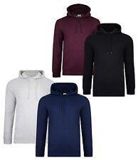 Smith & Jones New Men's Hooded Overhead Sweatshirt Hoodies Plain Top 2-Pack