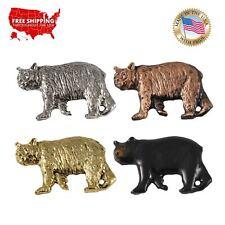 Lapel Pin or Magnet, M033 Creative Pewter Designs Black Bear Walking