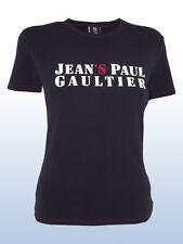 jean paul gaultier t-shirt donna nero blu taglia xs s extra small girocollo