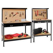Établi d'atelier avec panneau à outils et tiroir de rangement universel paroi