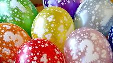 10 Kinder-Geburtstag- Luftballons Farbig/ Bunt 1Jahr -10 Jahre  Latex Dekoration