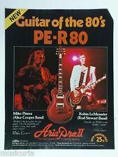 retro magazine advert 1982 ARIA PRO per80 guitar