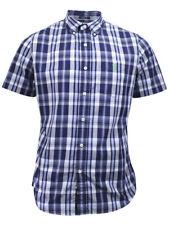 U.S. Polo Association Men's Short Sleeve Slim Fit Plaid Button Down Shirt