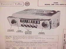 1952 FORD COURIER CUSTOMLINE CRESTLINE CONVERTIBLE AM RADIO SERVICE MANUAL 52 2
