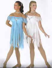 Angels Lyrical Ballet Dance Christmas Costume White Blue Child Medium & Large