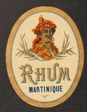 ETIQUETTE de RHUM Martinique / Portrait de FEMME ANTILLAISE
