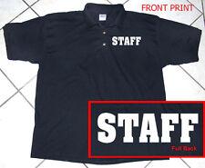Black Polo Shirt, Staff, Business, Staff, 100% Cotton, S - 2XL