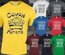 Couch Potato Herren T Shirt Top Lustiger Witz Komödie Slogan Zitat Mode S - 3xl