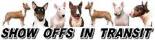 BULL TERRIER Show Off Dog Car Sticker By Starprint