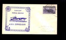 USS Correigidor Last Day Postal Service