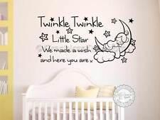 Twinkle Twinkle Little Star Guardería Pegatinas De Pared, Bebé Niño Niña Dormitorio Citar