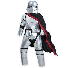 Disney Store Star Wars Force Awakens Captain Phasma Costume 3 4 5/6 7/8 11/12 13