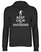 Keep Calm and Skateboard Hooded Top Unisex Mens Womens Hoodie