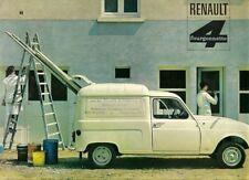 Renault 4 Fourgonette Van Mid 1960s Dutch Market Sales Brochure
