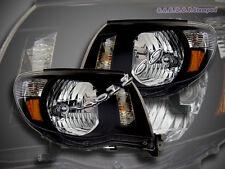 05-08 Toyota Tacoma Headlights Lamps JDM Black 06 07