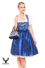 Krüger Dirndl Just Blue Damen blau Gr. 34 bis 42 Trachtenkleid Oktoberfestkleid