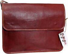 Stunning Leather Vintage Men Messenger Shoulder Satchel School Briefcase Laptop
