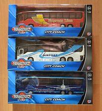 Teamsterz diecast rouge blanc ou bleu city coach airport bus modèle garçons jouet