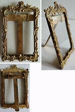 Petit cadre porte photo en BRONZE du 19e siècle style LOUIS XV photo frame