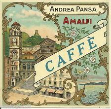 CAMPANIA_AMALFI_PUBBLICITARIA D'EPOCA_LIQUORI_CAFFE'_BELLISSIMA VEDUTA_DUOMO